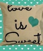 Love Is Sweet linen pillow cover