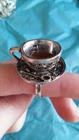 Alice in Wonderland Teacup Ring