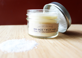 Sea Salt and Wild Rose 4 oz jar - Cape Cod Soy Candle