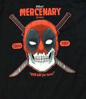 Deadpool Wilson's Mercenary Services T-Shirt-XL