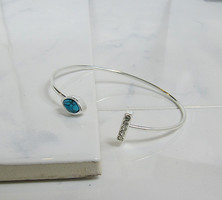 Jules Smith Pave Bar and Stone Cuff (In silver)
