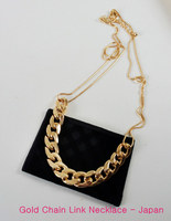 Gold-tone Chain Link Nexklace