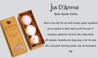Jus D'Amour Bath Bomb Trinity