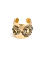 Spiral Gold Cuff Bracelet