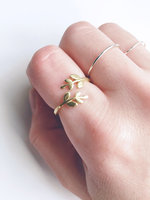 Reckless Crush Raw Brass Adjustable Ring