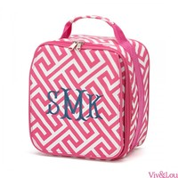Viv&Lou Pink Greek Key Lunch Box