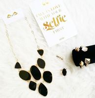 Universitee Box Black & Gold Necklace