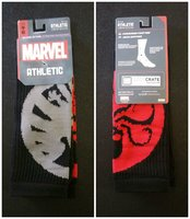 Loot Crate Exclusive Marvel Agents of Shield vs Hydra Socks