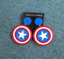 Captain America Dangle EArrings