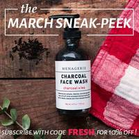 Menagerie charcoal face wash