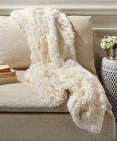 Bliss Home & Design White Faux Fox Throw