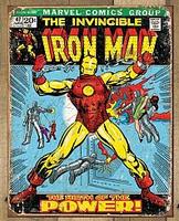 Retro Comic Book Tin Sign - Iron Man