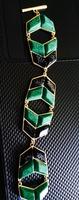Black & Green Faux Marble Bracelet
