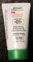 Garnier Clearly Brighter Brightening & Smoothing Daily Moisturizer SPF15