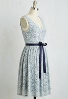 Yellow Star Blue and Beige Lace Party Dress