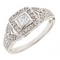 Sterling Forever Art Deco Ring