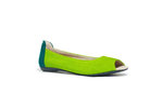 Root Collective Anna ballet flats in lime