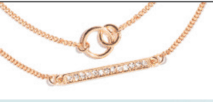 Le Tote Double Strand Bar Necklace