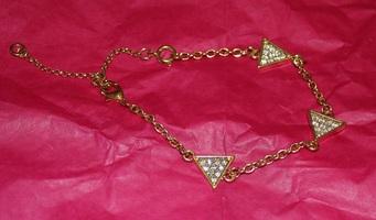 Triangle Rhinestone Bracelet
