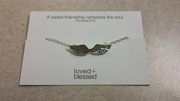 Silver wings friendship bracelet