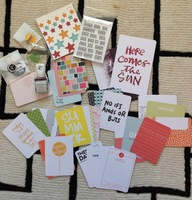Studio Calico Variety Pack of Scrapbook/Planner Cards & Stamps