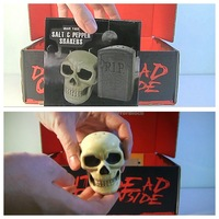 Graveyard Salt & Pepper Shakers Skull Tombestone