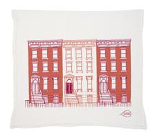 Claudia Pearson Designs Brownstones Tea Towel