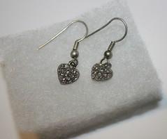Heart Marcasite Earrings