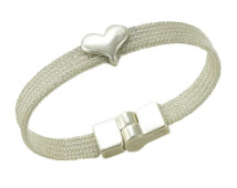 Mesh bracelet with Crystal Heart