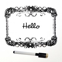 Paris Decorative Dry Erase Decal with Marker