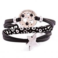 Pluie d'etoiles bijoux bracelet - noir