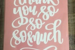 "Package of 4 ""Thank You"" cards with enveloped by Hand Letter Design"