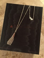 Small Chain Tassel Pendant Necklace by Eddie Borgo