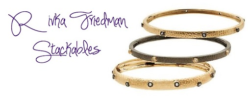 Rivka Friedman Esha Domed Bezel Bangle Bracelet