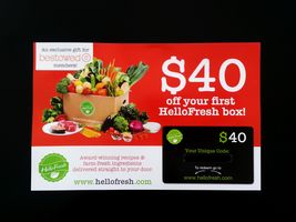 $40 off Hello Fresh