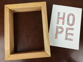 "Reclaimed Wood Frame and Christopher Craig ""HOPE"" foiled 5 x 7 print"