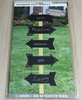 Chalkboard Party Arrow Kit Signs