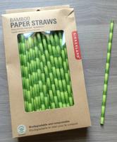 Bamboo Paper Straws by Kikkerland