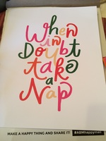 When In Doubt Take A Nap print