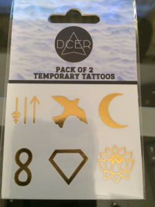 DCER Metallic Temporary Tattoos (12 minis)
