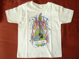 Mis Tee V-Us Boys Short Sleeve Rock-N-Roll T-Shirt, size 3T