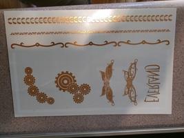 Golden steampunk tattoo