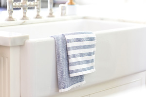 Honest Organic Dish Towels Set of 2 in Navy