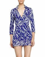 Diane von Furstenberg Celeste Silk Jersey Wrap Romper