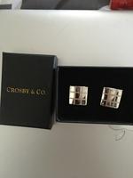 Crosby & Co silver cuff links