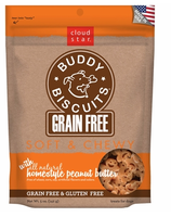 Cloud Star Grain Free Soft & Chewy Buddy Biscuits Homestyle Peanut Butter