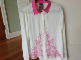 Pink Collared Shirt by Moon Collection