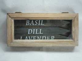 Wooden Box of Black Herb Markers - Gable Lanes