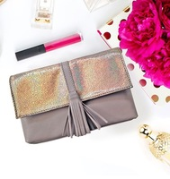 Badura clutch in grey