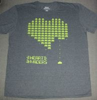 Loot Crate Exclusive Space Invaders Heart shirt